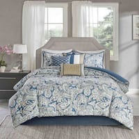Madison Park Lira Blue Comforter 7 Piece Set