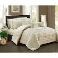 Chic Home Zarina BIB Beige 10-Piece Comforter Set