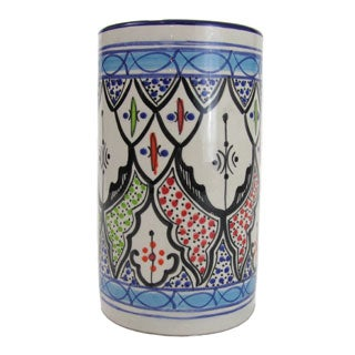 Handmade Le Souk Ceramique Tibarine Stoneware Utensil/Wine Holder (Tunisia)