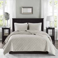 The Gray Barn Sleeping Hills Ivory Velvet 3-piece Coverlet Set