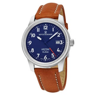 Revue Thommen Men's 16052.2535 'Air speed XL' Blue Dial Swiss Mechanical Watch with Beige Leather Strap|https://ak1.ostkcdn.com/images/products/P19192781a.jpg?_ostk_perf_=percv&impolicy=medium