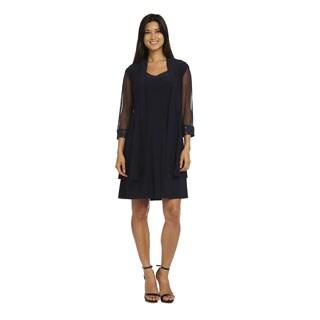 R&M Richards Women's Polyester/Spandex Jacket Dress