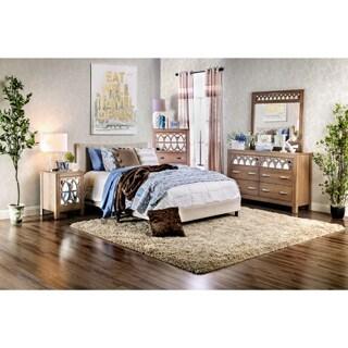 Ellen Contemporary Linen Fabric Platform Bed
