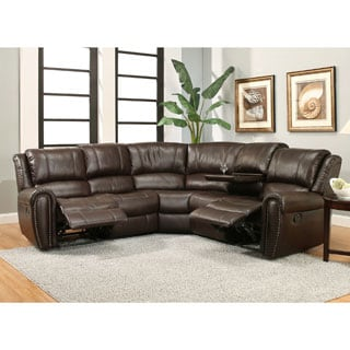 Abbyson Jackson 3-piece Brown Recliner Sectional