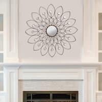 Stratton Home Decor Indoor Floral Design Flower Mirror