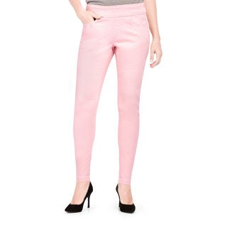 Bluberry Women's Dawn Pink Slim-leg Denim Jeans