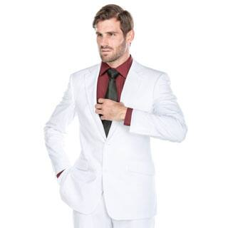 Verno Men's White Slim Fit Two-piece Suit|https://ak1.ostkcdn.com/images/products/P19201562a.jpg?impolicy=medium