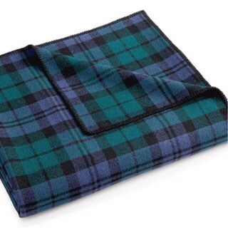 Pendleton Eco-wise Blue/ Green Plaid Wool Blanket