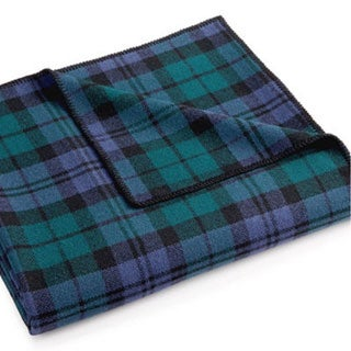 Pendleton Eco-wise Blue/ Green Black Watch Plaid Wool Blanket