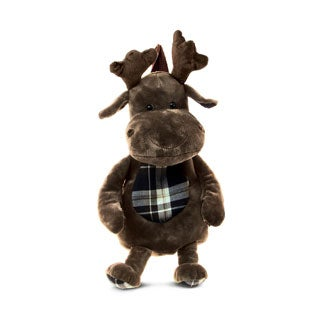 Puzzled Stylish Plush Moose Backpack