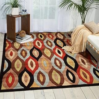 Nourison Mondrian Multicolor Area Rug (5'3 x 7'5)