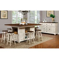 Furniture of America Lanie Country Style Two-Tone Counter Ht. Stool (Set of 2)