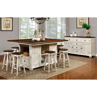 Furniture of America Lanie Country Style Two-Tone Counter Ht. Stool (Set of 2) (2 options available)