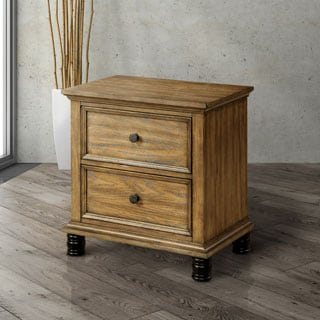 Furniture of America Donno Industrial Dark Oak 2-drawer Nightstand