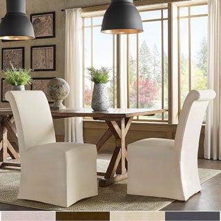 Potomac Slipcovered Rolled Back Parsons Chairs by SIGNAL HILLS (Set of 2)