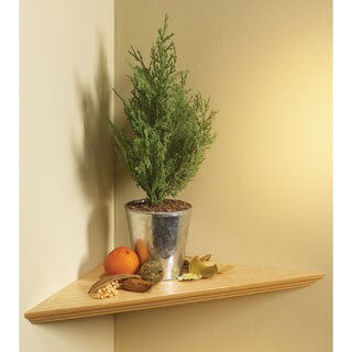"Knape & Vogt EZ12/1 OK 12"" Oak Instant Corner Shelves Single Pack"