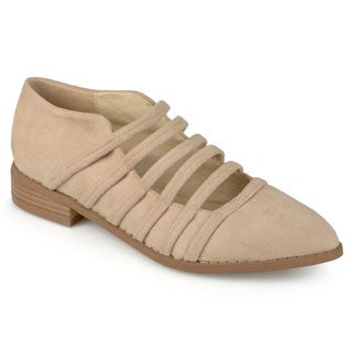 Journee Collection Women's 'Otto' Strappy Almond Toe Flats