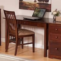 Atlantic Furniture Mission Walnut Wood Desk with Drawer