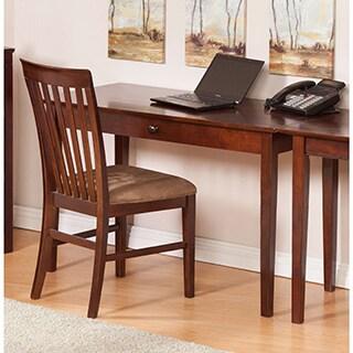 Atlantic Furniture Shaker Walnut Wood Desk with Drawer