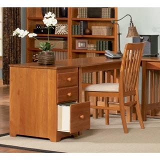 Atlantic Caramel Latte Finish Wood Mission Work Desk