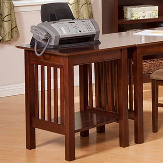 Atlantic Furniture Mission Walnut Wood Printer Stand