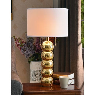 Design Craft Rumba Gold 29-inch Table Lamp