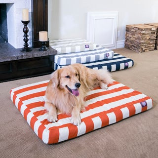 Majestic Pet Products Orthopedic Memory Foam Vertical Stripe Rectangle Dog Bed