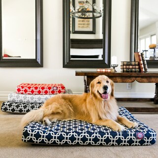 Majestic Pet Links Orthopedic Memory Foam Rectangle Dog Bed
