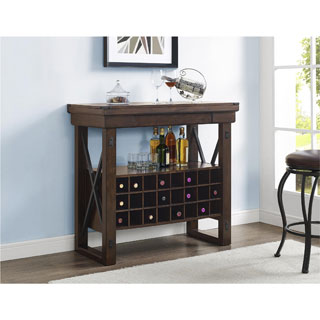 The Gray Barn Red River Mahogany Bar Cabinet