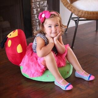 Furniture of America Critter Crew Plush Microfiber Themed Folding Kids Chair