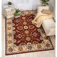 Nourison Grand Mahal Red Area Rug - 5' x 7'