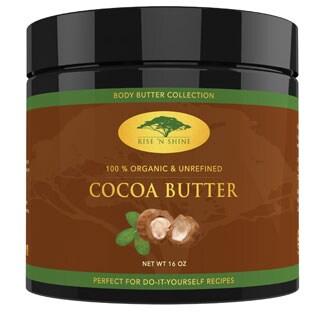 Rise 'N Shine Raw Unrefined 16 oz. Organic Cocoa Butter for Soap Making, Lotion, Shampoo, Lip Balm and Hand Cream Recipes