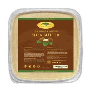 Rise 'N Shine Bulk Raw 32 oz. Organic Unrefined Ivory Shea Butter for Lotion, Shampoo, Lip Balm and Hand Cream Recipes