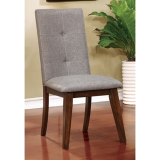 Furniture of America Katrin Mid-Century Modern Style Grey Tufted Side Chair (Set of 2)