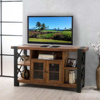 tori solid wood tv console stand with cabinet by christopher knight home - Media Center With Bookshelves