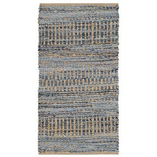 Safavieh Hand Woven Cape Cod Natural Blue Jute Rug 2
