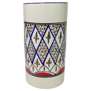 Handmade Le Souk Ceramique 'Tabarka' Stoneware Utensil/ Wine Holder (Tunisia)