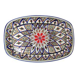 Handmade Le Souk Ceramique 'Tabarka' Rectangular Stoneware Platter (Tunisia)