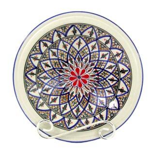 Handmade Le Souk Ceramique 'Tabarka' Small Stoneware Serving Bowl (Tunisia)