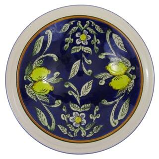 Le Souk Ceramique Citronique Design Medium Stoneware Serving Bowl (Tunisia)