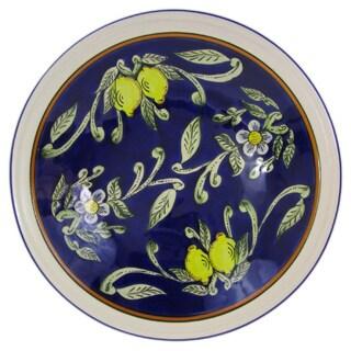 Le Souk Ceramique Citronique Design Large Stoneware Serving Bowl
