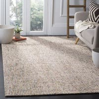 Safavieh Handmade Modern Abstract Beige / Rust Wool Rug - 8' x 10'