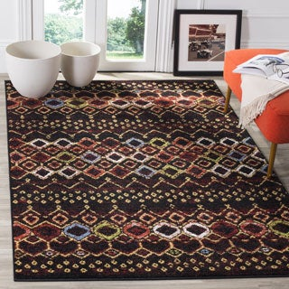 Safavieh Amsterdam Bohemian Black / Multicolored Rug (8' x 10')