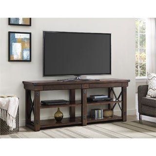 Altra Wildwood Mahogany Veneer 65-inch TV Stand