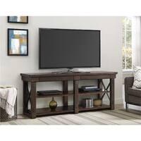 Ameriwood Home Wildwood Mahogany Veneer 65-inch TV Stand