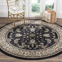Safavieh Lyndhurst Traditional Oriental Anthracite/ Cream Rug - 7' Round