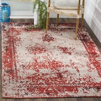 Safavieh Classic Vintage Red Cotton Abstract Distressed Rug - 8' x 11'