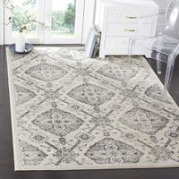 Safavieh Carnegie Vintage Cream/ Light Grey Distressed Rug (9' x 12')