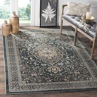 Safavieh Lyndhurst Traditional Oriental Teal/ Grey Rug (8' x 10')