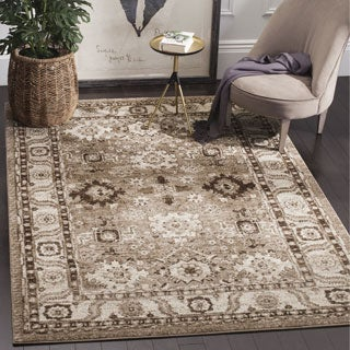 Safavieh Vintage Hamadan Traditional Taupe Distressed Rug (7' x 10')